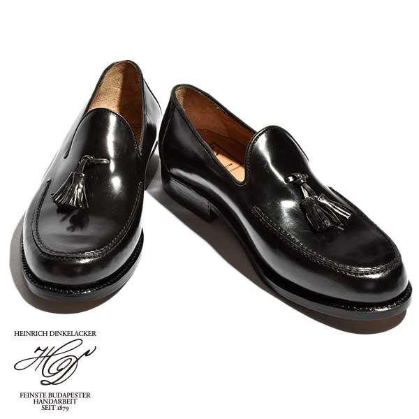 【送料無料】 Heinrich Dinkelacker ハインリッヒディンケラッカー ディンケルアッカー/WIEN ウィーン タッセル ローファー オペラシューズ ホーウィン シェルコードバン レザー 革靴 メンズ ハンガリー ブタペスト製 MADE IN HUNGARIAN