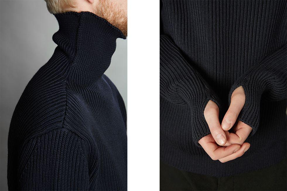 【送料無料】ANDERSEN-ANDERSEN アンデルセンアンデルセン メリノウール 5ゲージ タートルネック セーター イタリア製