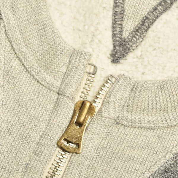 【送料無料】Kepani ケパニ MOONLOID ムーンロイド 別注 リメイク ヴィンテージ 両V スウェット ジップアップ カーディガン  メンズ MADE IN JAPAN 日本製
