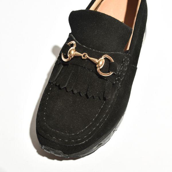 【送料無料】Tomo&Co (トモアンドシーオー) タッセル ローファー スエード レザー 牛革 シューズ TM-SHOSE-0006 レディース 革靴 コンフォート