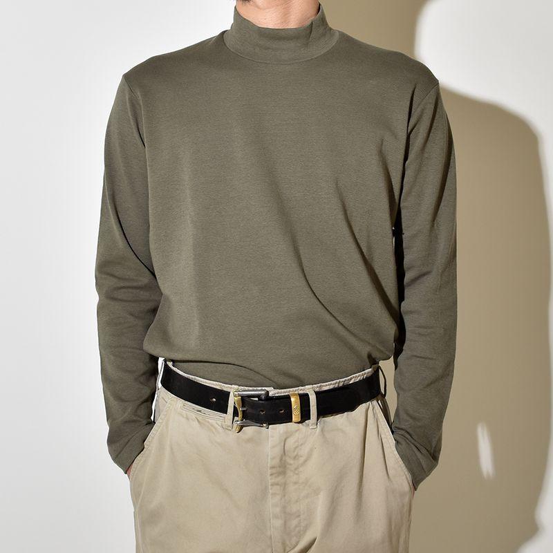 【送料無料】ANATOMICA アナトミカ モックネック Tシャツ TEE MOCK NECK TEE L/S 長袖 Tシャツ 無地 カットソー メンズ レディース MADE IN JAPAN 日本製