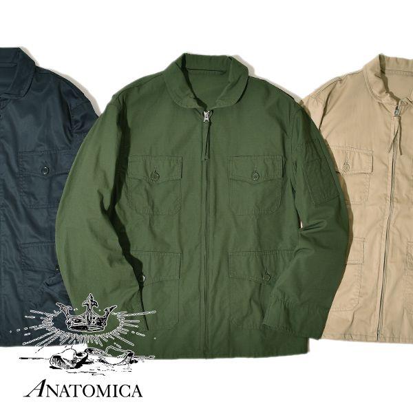 ANATOMICA アナトミカ メンズ USN フライト ジャケット MEN'S USN FLIGHT JACKET MOONLOID ムーンロイド 別注カラー ミリタリージャケット サマーフライト ARMY CLOTH アーミークロス リップストップ MADE IN JAPAN 日本
